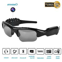 Camera Glasses,Bluetooth Sunglasses Camera Full HD 1080P wit