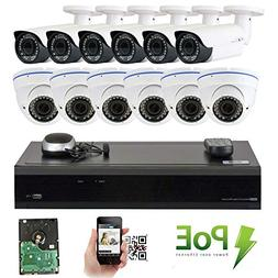 GW Security 16CH 5 Megapixel 1920P Video Home Security Camer