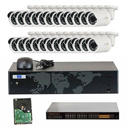 GW Security 32 Channel 4K NVR 1920P IP Camera Network POE Vi