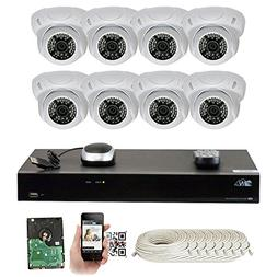 GW Security 8 Channel 5MP NVR 1920P IP Camera Onvif POE Vide