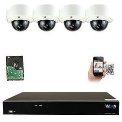 GW Security 8CH 4K NVR IP Security Camera System - 4 x HD 5.