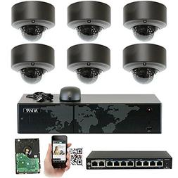 GW Security 5MP  8Ch 4K NVR Network Video Security Camera Sy