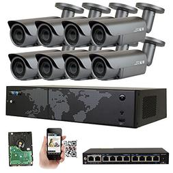 GW Security AutoFocus IP Camera System, 8 Channel H.265 4K N