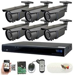 GW Security 8-Channel 2.5K HD  Complete Security System with