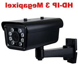 GW Security 3MP HD 1080P Outdoor Day/Night Network PoE IP Li