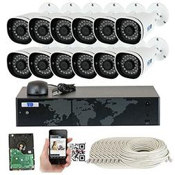 GW Security H.265 Video Audio Recording IP Camera System, 16