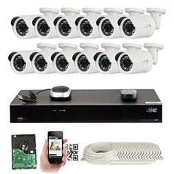 GW Security 16 Channel 4K NVR 5MP IP Camera Network POE Vide