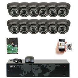 GW Security 16 Channel 4K NVR 5MP IP Camera Network PoE Surv