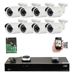 GW Security 8 Channel 5MP NVR 1920P IP Camera Network POE Vi