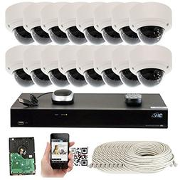 GW Security 5-Megapixel  16 Channel PoE 4K NVR Security Came