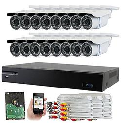GW Security 16-Channel HD-AHD/TVI DVR Complete Security Syst
