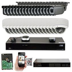 GW 32CHIP 32 Channel 4K NVR Video Security System - 16 x Bul
