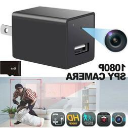 HD 1080P Hidden Camera USB AC Charger Adapter Security Recor
