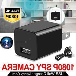 HD 1080P Mini Hidden Camera USB AC Charger Adapter Security