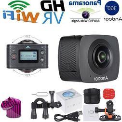 Andoer HD 8mp dual-lens 360 °panoramic digital video sports
