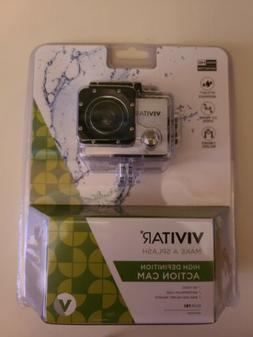 Vivitar HD Action Waterproof Camera / Camcorder Silver DVR78