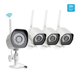 Zmodo 4 720p WiFi Outdoor Home Wireless IP Security Camera S