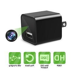 Mini Camera, 1080P Hidden Security Camera, USB Wall Charger