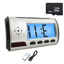 INRIGOROUS Hidden Camera Alarm Clock Portable Spy Camera DVR