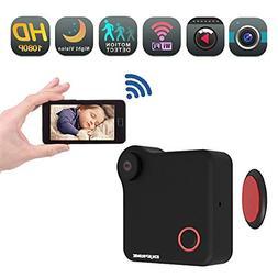 Mini Wireless WiFi Action Camera - Nanny cop Cam, Small Moni