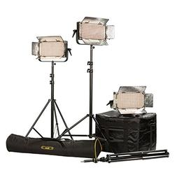 Ikan IB500-PLUS-3PT-KIT with 3 x IB500 Lights, Yokes and AB