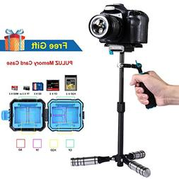 DSLR Camera Handheld Stabilizer, PULUZ Portable 3-Axis Carbo