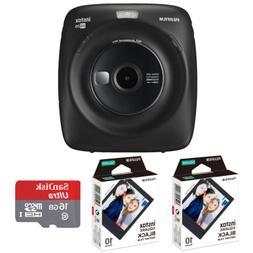 Fujifilm Instax Square SQ20 Instant Hybrid Camera  + Film Pa