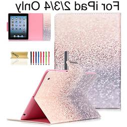 iPad Case,iPad 2/3/4 Flip Case, Dteck Magnetic Synthetic Lea
