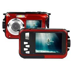 GordVE KG0008 Double Screens Waterproof Digital Camera 2.7-I