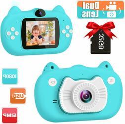 Kids Camera Digital Dual Lens Video Cameras for Children