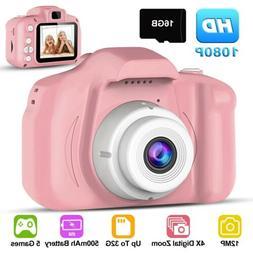Kids Digital Camera Camcorder 12MP 1080P FHD Video Camera 4X