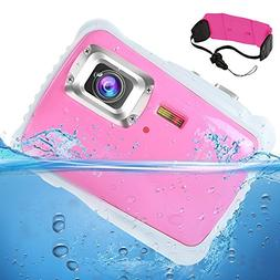 AIMTOM Kids Underwater Digital Waterproof Camera, 12MP HD Bo