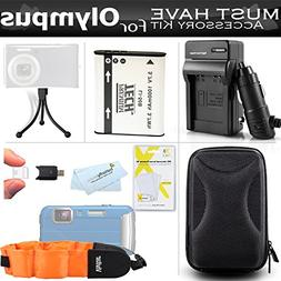 Accessories Bundle Kit For Olympus Stylus Tough TG-610 TG-81