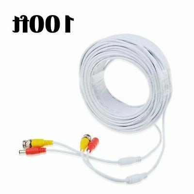 100ft video power cable cord for cctv