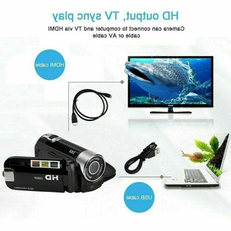 Camcorder Digital 1080P 24MP 16x Zoom DV AV