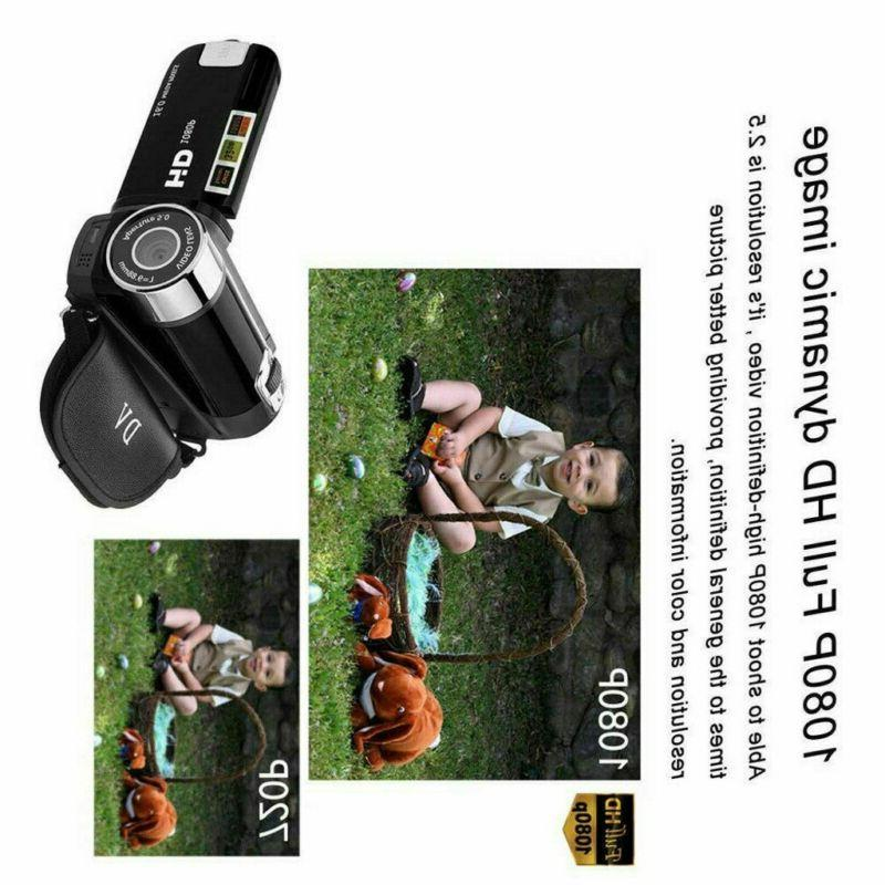 Camcorder 1080P TFT LCD 24MP 16x Zoom
