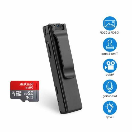BOBLOV 1080P Body Cameras with Wearable Video Recorder Clip