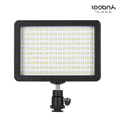 160 LED 5600K Dimmable Video Light with 3 Filters For Canon