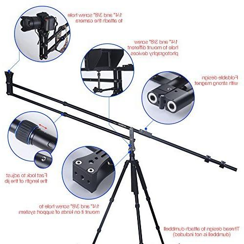 Andoer 6.4ft Camera Crane Jib Arm Extendable Photography Nikon Canon Sony Olympus Max.Load Capacity 5kg / 11Lbs