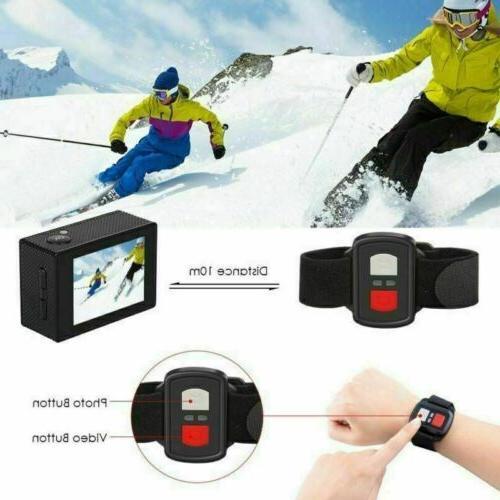 2020 Black Action Camera 12MP Waterproof Ultra HD DV US