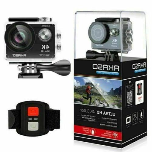 2020 New EK7000 Black Action Camera 12MP Waterproof DV CAM