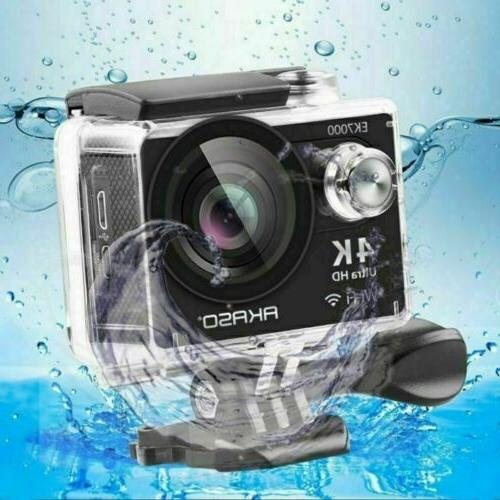 2020 New Black Action Camera Waterproof Ultra HD DV US