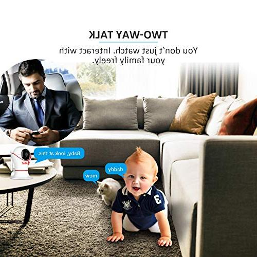HD 360 Wireless Camera 3D Panorama Two-Way Motion Detection, 2.4Ghz Home, Baby, Pet