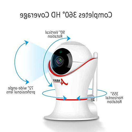 HD 1080P Home Wireless Dome Camera Panorama View Night Vision Two-Way 2.4Ghz Indoor Home, Baby, Elder,