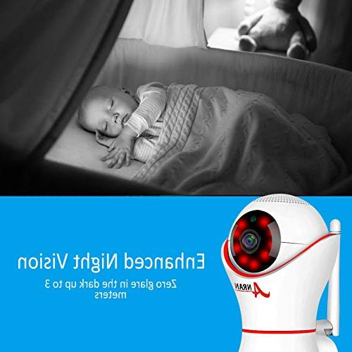HD 1080P 360 Home Wireless Dome Camera 3D Navigation Panorama View Night Vision Two-Way Home, Baby,