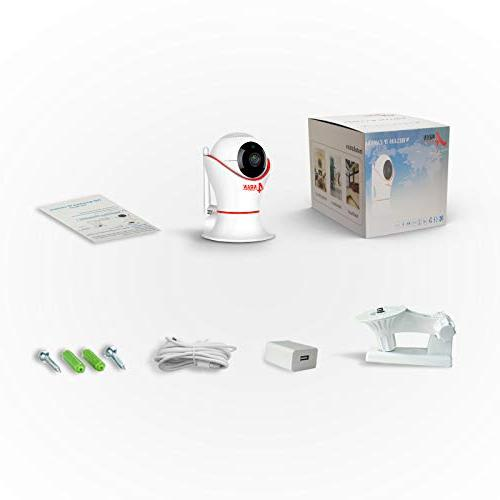 HD 1080P Wireless Security Dome Camera with 3D Navigation Panorama Two-Way Audio, Motion Home, Baby, Elder, Pet