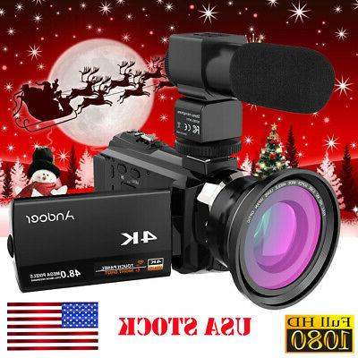 """Andoer 4K 16X 3"""" WiFi Video Camera Camcorder DV"""