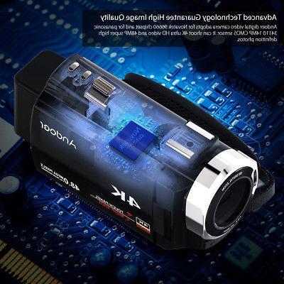 Andoer 4K WiFi Digital Video Camcorder Recorder +