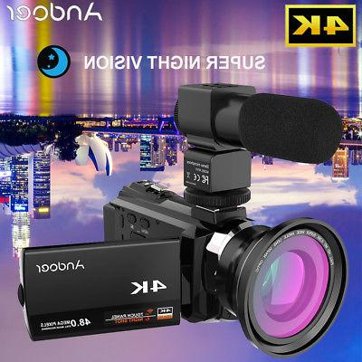 4k 1080p 48mp wifi digital video camera