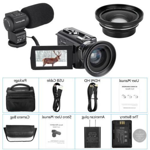 Professional Camera 4K Ultra 48MP Camcorder Angle